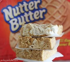 chewy no-bake nutter butter bars. ummm YUM!