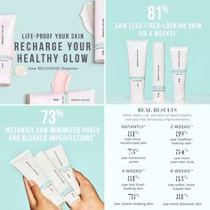 Our RECHARGE products balance, boost and defend visibly dull, blotchy, dehydrated skin caused by daily stressors to reveal your healthiest-looking complexion. Rodan And Fields Regimen, Rodan Fields Skin Care, Rodan And Fields Consultant, Foundation, Skincare Blog, Mind Body Soul, Acne Prone Skin, Skin Care Regimen, Good Skin