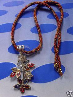 1 Halskette aus Indien  Schmuck Kette Bollywood Strass