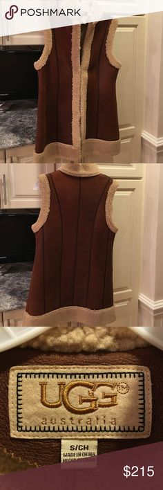 UGG shearling vest UGG shearling vest with tan suede panels. 100% shearling. Looks very cool on. UGG Other