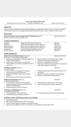 Fresh Graduate Nursing Resume  Fresh Graduate Nursing Resume That
