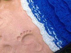 Polym bookcver #polymerbeach #sand #footprint #sea