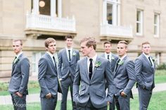 European Boho Wedding Groomsmen Bridal Party Grey Suit