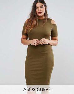 Prezzi e Sconti: #Asos curve vestito fasciante a coste con taglia It 58it 60  ad Euro 23.99 in #Asos curve #Female per prodotto vestiti