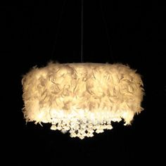 White Feather Chandelier with 3 Lights Crystal Drop Featured Closet Chandelier, Candle Chandelier, Candle Lamp, Chandeliers, Girl Cave, Lights Fantastic, Cheap Pendant Lights, Sweet Home Alabama, Hearth And Home