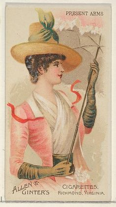 Allen & Ginter   Present Arms, from the Parasol Drills series (N18) for Allen & Ginter Cigarettes Brands   The Met