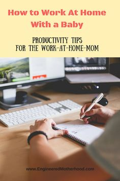 How to Be Productive when working at home with your babies!
