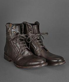 John Varvatos men's zip boots in brown. weekender. sick. ass. boss. style.