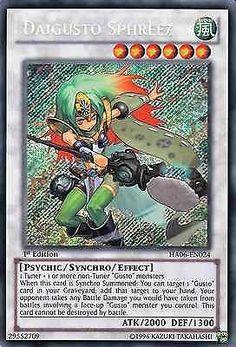 Original KONAMI Yu-Gi-Oh! Trading Card Daigusto Sphreez Kartennummer: HA06-DE024 Deck: Hidden Arsenal 6 Häufigkeit: Secret Rare Kartentyp: Synchro-Monsterkarte Typ: Psi / Synchro / Effekt ATK/DEF: 2000/1300 GBA: 29552709   Günstig bei eBay kaufen!
