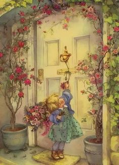 Lisi Martin is a Spanish artist and illustrator famous for her highly detailed and romanticized pictures of children. Lisi was born in Barcelona, Catalonia in Art And Illustration, Vintage Cards, Vintage Postcards, Vintage Pictures, Cute Pictures, Spanish Artists, Holly Hobbie, Vintage Children, Vintage Christmas