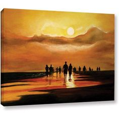 Lindsey Janich Siesta Key Painting Gallery-Wrapped Canvas, Size: 36 x 48, Brown