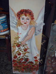 εκ φυσεως: αγγελοι και αγγελουδια...... Blog, Painting, Painting Art, Blogging, Paintings, Painted Canvas, Drawings