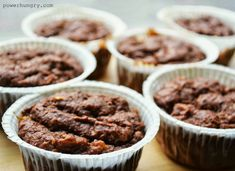 Chocolate-Banana Teff Muffins {Gluten-Free and Vegan, Made with Teff Flour} Gluten Free Muffins, Vegan Gluten Free, Vegan Sweets, Vegan Desserts, Teff Recipes, Apple Oatmeal Muffins, Pumpkin Breakfast, Pancakes Easy, Peanut Butter Cookie Recipe
