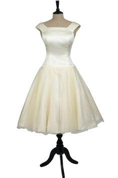 Audrey style wedding dress