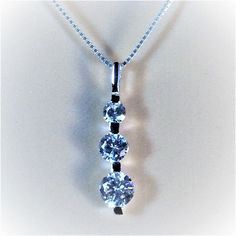 """Sterling Silver Clear CZ Pendant Necklace, 18"""""""