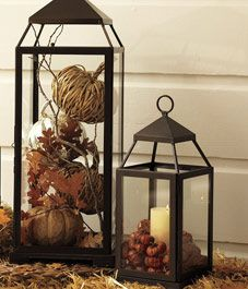 Fall decor with my lanterns.