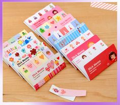 Cute Korean Sticker Post It Bookmark Point Memo Flags Sticky Notes 175 Pages | eBay