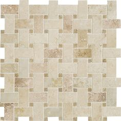 1/2 bath floor option...Check out this Daltile product: Travertine Collection Turco Classico / Noce (Basketweave Honed) T324