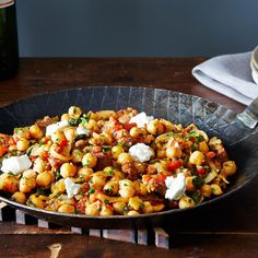 A Warm Pan of Chickpeas, Chorizo, and Chèvre Recipe on Food52 recipe on Food52