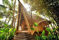 Check out the stunning architecture of Green Village in Bali, Indonesia. Green Village in Bali, Indonesia is an architectural gem - a dream like setting. Bamboo Building, Natural Building, Green Building, Building A House, Bamboo Architecture, Sustainable Architecture, Sustainable Design, Architecture Design, Architecture Interiors