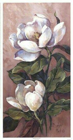Watercolor Art, Fine Art Prints, Magnolias, Flor Magnolia, Magnolia Paint, Magnolia Flower, Oil Painting Flowers, China Painting, Flower Art