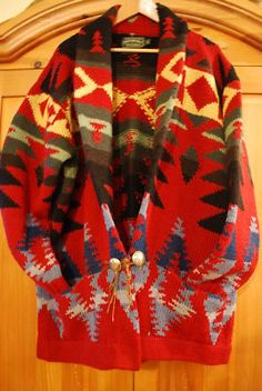 Vintage Ralph Lauren Southwestern Wool Cardigan Sweater