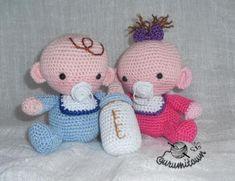 amigurumi babies niño/niña  hilo de algodón 100%,fibra,cuentas crochet,amigurumi