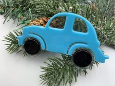 Fused Glass Ornaments, Car Ornaments, Secret Santa Game, Santa Games, Bug Car, Beetle Car, Special Person, Looking Gorgeous, Twinkle Twinkle