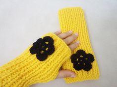Gloves Wool Mittens Fingerless Handmade by BloomedFlower on Etsy, $24.00