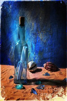 Message For You - photograph by Randi Grace Nilsberg fineartamerica.com #stilllife #messageinabottle #saltlife
