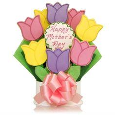 Tulips Cookie Bouquet