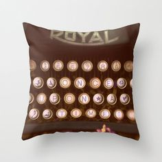 Once Upon a Time, Pillow Cover, Throw Pillow, Housewares, Fairy Tale Decor, Bedding, Imagination, Fantasy, Typewriter, Vintage, Surreal, Art