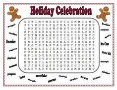 Fun, colorful Christmas Word Puzzles for your students to enjoy. Included are 2 word searches, a crossword puzzle, word scramble with answer key, a...