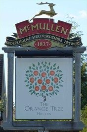 Orange Tree - Stevenage Road, Hitchin, Herts, UK. (not technically a blade sign)