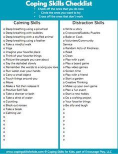 Coping Skills Checklist