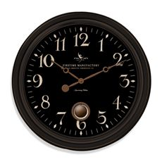FirsTime 24 in. Round Varenna Wall Clock 25628 - The Home Depot Big Wall Clocks, Black Clocks, Oversized Clocks, Tabletop Clocks, How To Make Wall Clock, Wall Clock Design, Large Clock, Bedding Shop, Wall Art Decor
