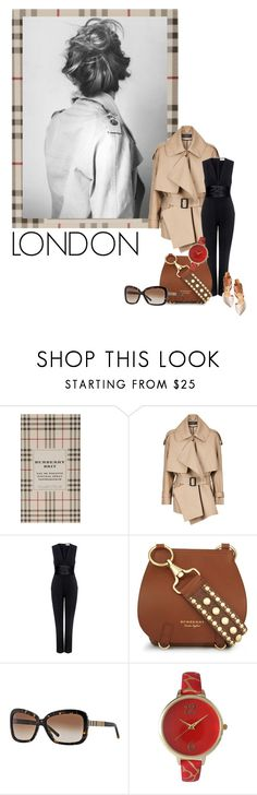 """""""London Calling"""" by erica-tais ❤ liked on Polyvore featuring Burberry, A.L.C., Olivia Pratt and Dolce Vita"""