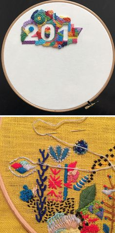 1 Year of Stitches | contemporary embroidery | 365 day project | hoop art