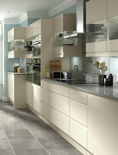 Opt for kitchen units without handles