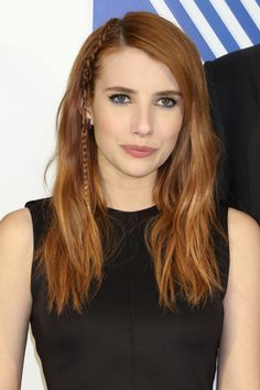 Emma Roberts http://en.louloumagazine.com/beauty/hairstyles/hairstyle-trends-red-hair/ / http://fr.louloumagazine.com/beaute/cheveux/coiffures-tendance-cheveux-roux/