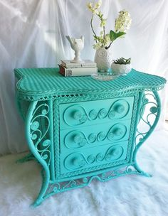 Sale 30% off...Vintage Victorian Wicker Dresser/Buffet/Chest of Drawers on Etsy, $360.00 want this in hallway by old cabnit doors :)