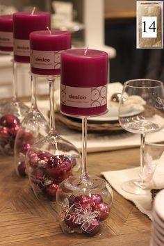 14. Luukku  Uusi viikko, uudet kujeet! Tänään kalenteristamme löytyy mahtava sisustusvinkki + tarjous.  Viinilaseista on moneksi, ne toimivat kätevästi myös kynttilänjalkoina ja voit itse somistaa lasiosan haluamallasi tavalla. Näin joulun alla yksi kaunis vaihtoehto on joulupallot.  Kaikki viinilasimme nyt -20%. Tarjous on voimassa 14.-15.12.