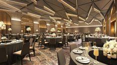 Banquet Hall at Bukit Bintang City Centre - Blu Water Studio Hall Interior Design, Hall Design, Hotel Conference Rooms, Ballroom Design, Function Hall, House Flippers, Industrial Office Design, False Ceiling Design, Room Setup