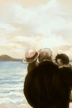 Garp, Ace, and Luffy