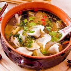 Home - Din secretele bucătăriei chinezești - Page 6 Dumplings For Soup, Quinoa, Ethnic Recipes, Instagram, Food, Salads, Meal, Eten, Meals