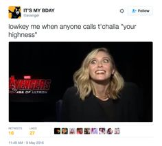 "On King ""Fetch Me the Fainting Couch"" T'Challa: 