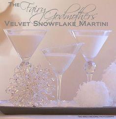 The Fairy Godmother Velvet Snowflake Martini