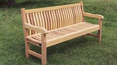 The Scarborough wooden bench by Woodcraft UK