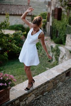 Joie in Tuscany by James Nord Look. Tuscany, White Dress, Sexy, People, Dresses, Places, Fashion, Joy, Vestidos