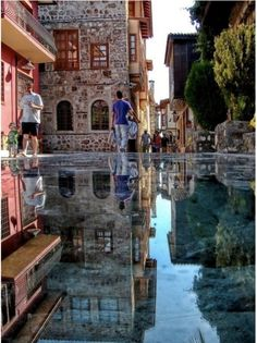 The stone mirror in Antalya, Turkey. Note: do not wear a dress!